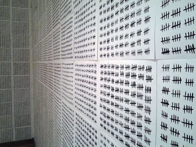 Each line represents a carefully documented violent civilian death in Iraq, following the 2003 invasion. For more details about the methodology of the count, visit iraqbodycount.org.